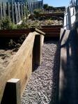 Newly-installed gravel near top of Hidden Garden Steps