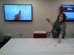 """Dot Porter, in the """"Vitale II"""" media lab"""
