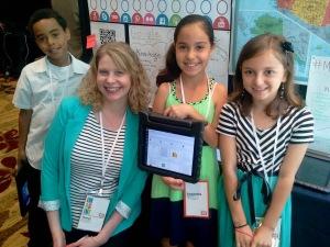 Cheryl Steighner with students