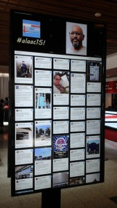 Live #alaac15 Twitter feed on display